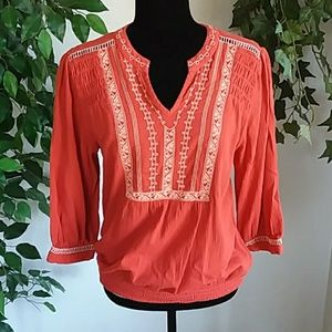 Peasant Top by Vintage America